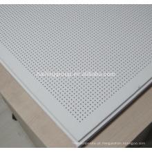 Placa de gesso perfurada acústica de venda quente