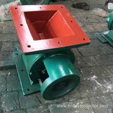 Uniform feeding gas lock valve in flour mill