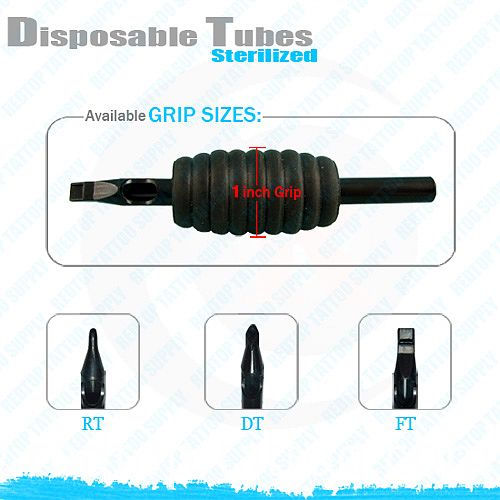 Black disposible tattoo grip