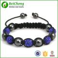 Crystal shambala Bead weave bracelet bangles