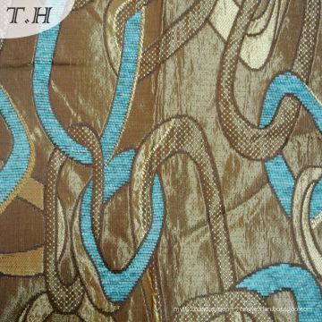 Toile en jacquard jacquard bleu en tissu avec manteau 280GSM