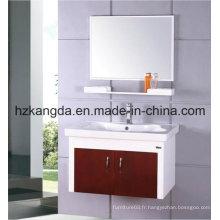 Cabinet de salle de bain en bois massif / vanité de salle de bain en bois massif (KD-425)