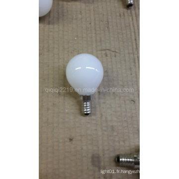 Ampoule laiteuse de filament de G45 LED avec du CE RoHS