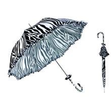 Parapluie de dentelle de dôme de conceptions noires et blanches (YS-SA23083912R)