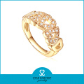 925 Silver Gold Color Jewelry Ring in Factory Price (R-0417)