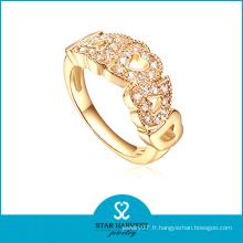 Bague de bijoux en argent 925 en or au prix d'usine (R-0417)