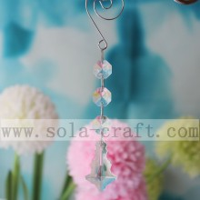 Clear Crystal Drop Prisms Chandelier Irregular Pendant Lamp Acrylic Ornament For Wedding Decoration