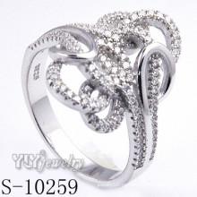 925 de plata esterlina Zirconia mujeres anillo (s-10259)