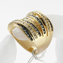 Hot Sale metal Jewelry For women Best Sell Wedding Silver And Gold Plated Rhinestone Finger Ring ! AAA Grade