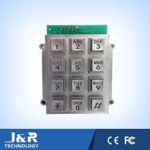 Выпуклый квадратный Телефонная клавиатура с 12 клавишами, бронированная Телефон клавиатуры