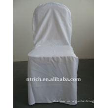 Patrón de cubierta de silla de banquete estándar de color blanco, CTV549