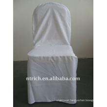 white colour standard banquet chair cover pattern,CTV549