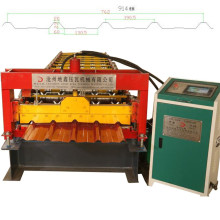 Automatic metal roof panel forming machine