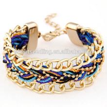 Estilo boêmio colorido tecer pulseira de moda artesanal 2016