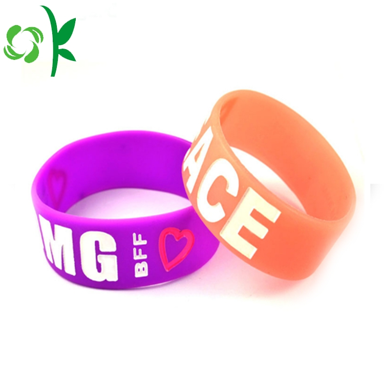 Dilated Silicone Engraved Wristbands