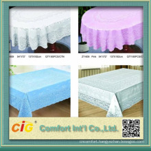 waterproof pvc transparent tablecloth with different printing designs