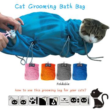 Hot Saling Profissional Pet Cat limpeza Grooming Bag Gato Restraint Saco De Banho 2 tamanhos