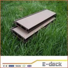 Wpc cubierta hueca suelo de alta densidad al aire libre piso de material compuesto ranurado