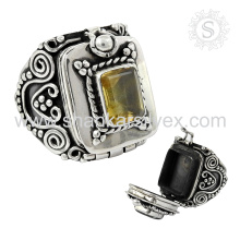 NEW Generation 925 Sterling Silver Citrine Ring Natural Gemstone Silver Jewelry Supplier Indian Jewelry