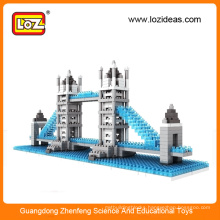 LOZ diy architecture children building block toy/architectural blocks