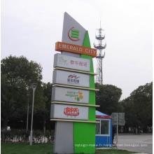 Panneaux de signalisation extérieurs en aluminium et en acier inoxydable