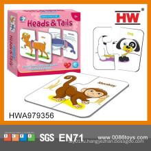 Интересные игрушки головоломки животных Установить образовательные игрушки Монтессори