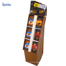 Große Wellpappen-Regale Wellpappe benutzt, um, förderndes Anzeigen-Verkaufsregal der Pappe zu vermarkten