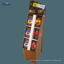 Estantes de cartón corrugado del tamaño grande usados para comercializar, estante de exhibición promocional de la cartulina