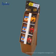 Les étagères en carton ondulées de grande taille utilisées pour commercialiser, étagère promotionnelle de carton