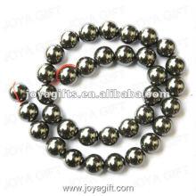 Perles rondes d'hématite en vrac de 12 mètres 16 po