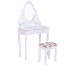 Modern Furniture Wood 4 drawers Make-Up Vanity Table mirror make up table