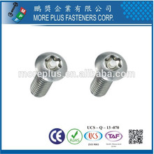 Made in Taiwan Carbon Steel ISO7380 Hexagon Socket Flat Head Screw