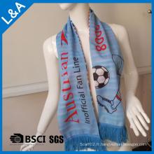 Polyester Blue Football Fans Echarpe