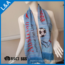 Polyester Blue Football Fans Scarf