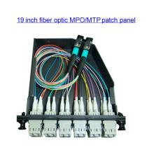 19 polegadas Fibra óptica MPO MTP cassete