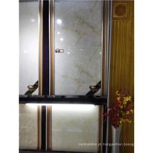 Telhas cerâmicas brancas lustradas lustradas do assoalho de telha de mármore