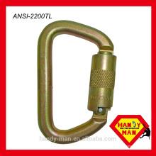 ANSI CE EN362 ANSI Z359 1 Steel D Type Triple lock Safety Hook