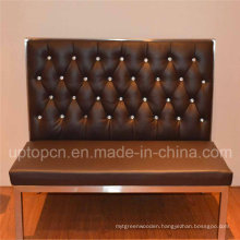 Modern Black Bar Booth with Stainless Steel Frame (SP-KS187)