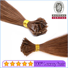 All Colors 8-20 Inch Straight or Curly Remy Virgin Hair Flat Tips Human Hair Extensions