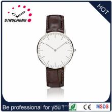2015 relógio de pulso especial do logotipo feito sob encomenda / faixa de couro (DC-1433)