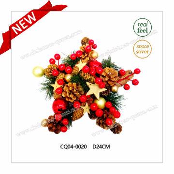 Dia 10 pulgadas de pino y cereza bola de Navidad para la decoración del partido