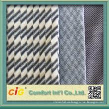 Cubierta de asiento de alta calidad de diseño China nueva en tela suave del terciopelo para el autobús para el autobús