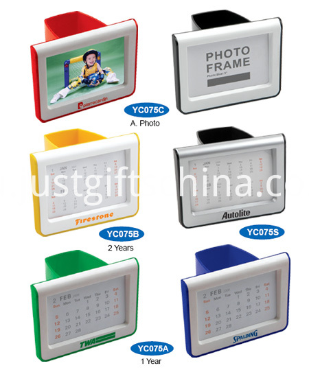 Promotional Plastic Pen Holder W Calendar