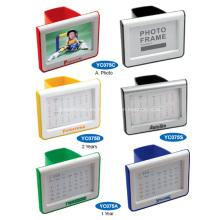 Porta bolígrafos de plástico promocional con calendario o foto