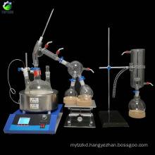 2L Short Path Distillation Lab Glassware Instrument Fractional Distillation Equipment With Magnetic Stirring Heating Mantle