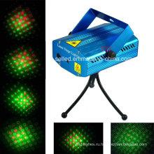 Мини-красная / зеленая лазерная подсветка для рождественского ди-джея