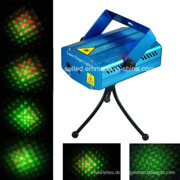 Mini Rot / Grün Laser Bühnenlicht für Weihnachten DJ