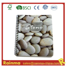 Caderno espiral com papel de pedra
