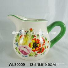 Jarra de leche de cerámica de venta caliente