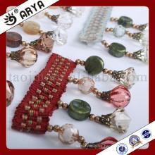 Diseño simple perlas multi tipo franja para deco de la cortina